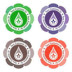 Pure Essential Oil Product Labels