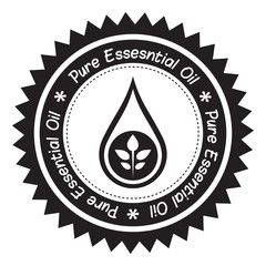 Pure Essential Oil Product Label