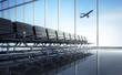 Leinwandbild Motiv Airport Wartelounge