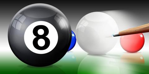 Billardkugeln,Billard, Snooker mit Kö