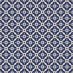 Vintage dark blue and brown colors seamless pattern