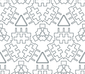dark monochrome color angular outline abstract geometric seamles