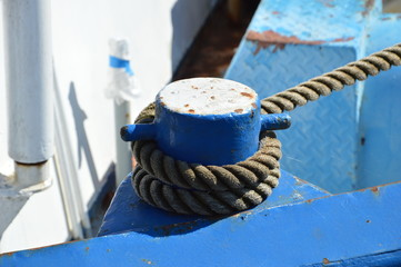 Poller auf dem Schiff