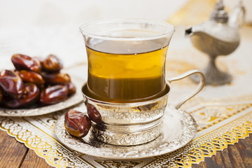 cup of tea and dates
