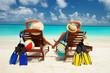 Happy couple on the beach of sea - 81820355
