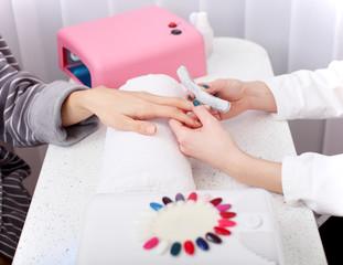 manicure treatment at the spa salon