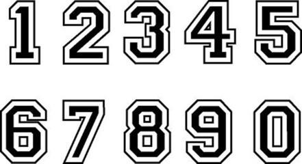 Zahlen, schwarz, Vektor