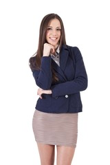 business woman smiling positive attitude