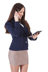 business woman with mobile phone