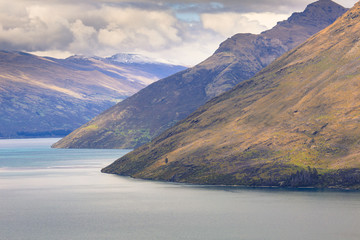 Queenstown view from above, Otago region, South Island, New Zeal