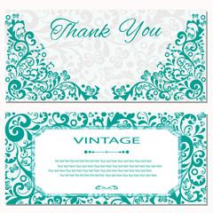 Invitation card vintage
