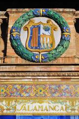 Escudo de Salamanca, Plaza de España, Sevilla, España