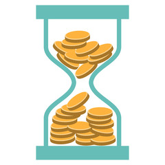 time is money,  infographics design, vector illustration