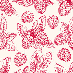 background with pink raspberries