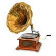 Leinwanddruck Bild - old gramophone