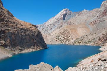 Majestic mountain lake in Tajikistan
