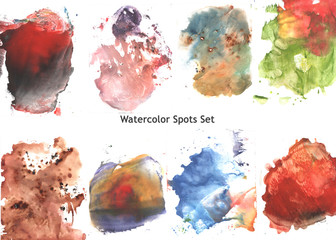 Abstract Watercolor Colorful Spots