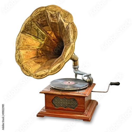 Staande foto Muziekwinkel old gramophone