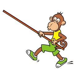 monkey, sportsman