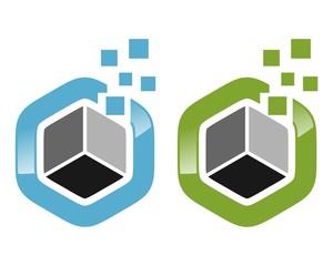 modern hexagon logo v.1