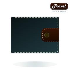Wallet icon. Purse icon. Flat design style. Made vector illustra