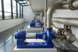 Modern water pumps in a water plant in Denmark station - 81825162