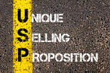 Business Acronym USP as Unique Selling Proposition poster