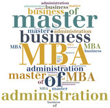 MBA. Master of business administration. poster