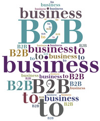 B2B. Business to business.