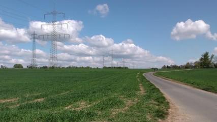 Riding Bike in Field