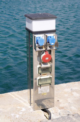 Electric charging point for boats