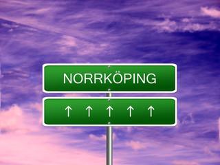 Norrkoping City Sweden Sign
