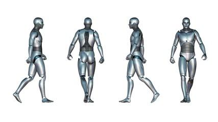 Male Robot Walk Loop