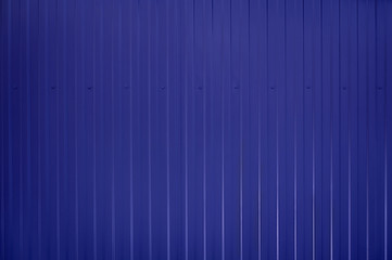 Blue toned Corrugated metal texture surface
