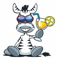 Mascot Zebra Cocktail