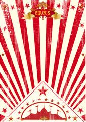Circus poster red sunbeams
