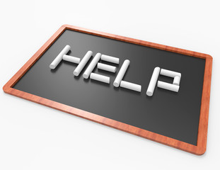 Help 3d word from chalk