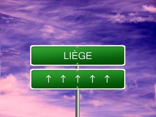 Liege City Belgium Sign