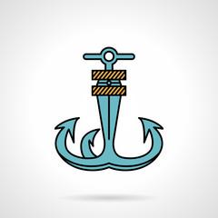 Anchor flat design vector icon
