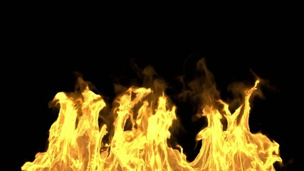 Realistic Fire with alpha matte.