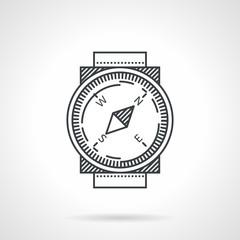 Compass black line vector icon