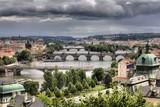 Summer panorama of Prague, Czech Republic