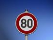 Verkehrsschild Tempo 80 - 81829911