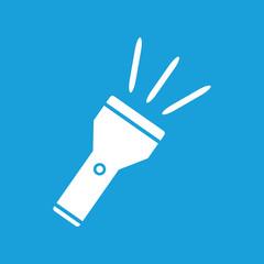 Flashlight white icon