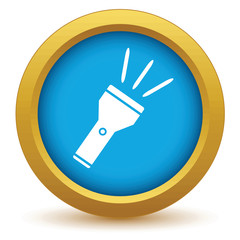 Gold flashlight icon