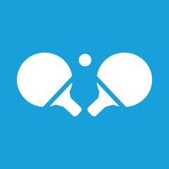 Table tennis white icon