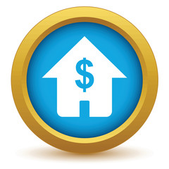 Gold dollar house icon