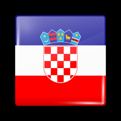 Flag of Croatia. Glossy Icons