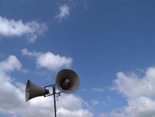 tannoy and blue sky