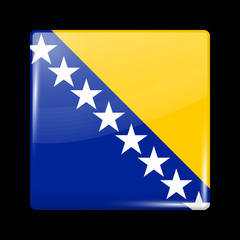 Flag of Bosnia and Herzegovina. Glossy Icons